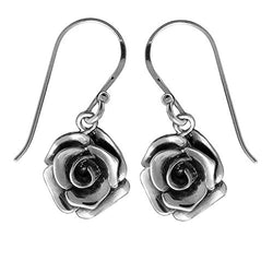 Rose Earrings - Boma Life Sterling Silver