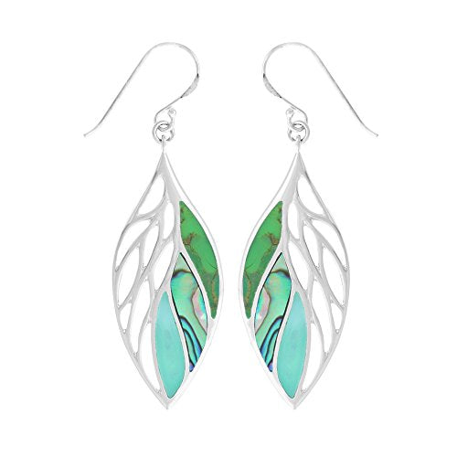 Green Leaf Earrings - Boma Life Sterling Silver