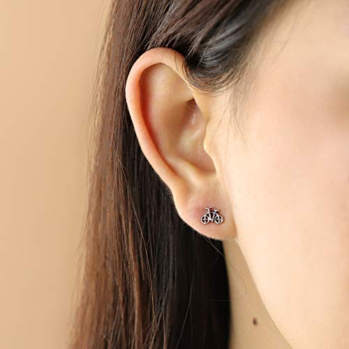 Bicycle Stud Earrings - Boma Life Sterling Silver