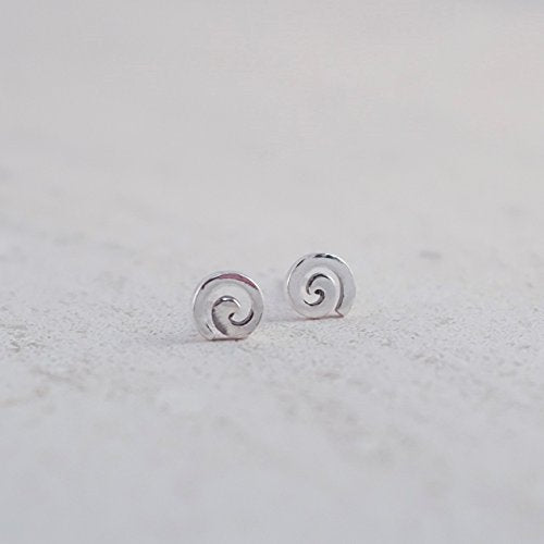 Essential Spiral Stud Earrings - Boma Life Sterling Silver