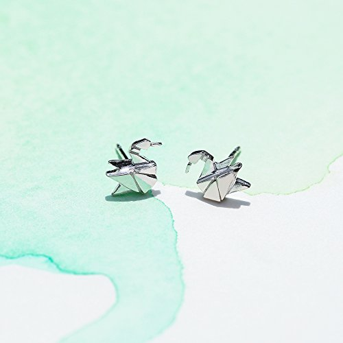 Origami Crane Stud Earrings - Boma Life Sterling Silver