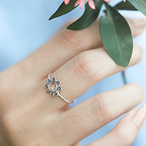 Bohemian Sun Ring - Boma Life Sterling Silver