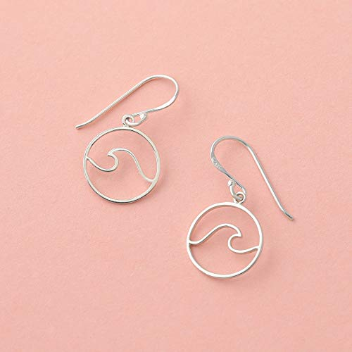 Wave Earrings - Boma Life Sterling Silver