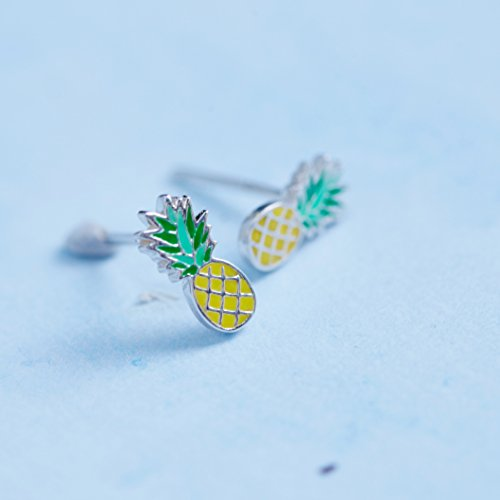 Pineapple Stud Earrings - Boma Life Sterling Silver