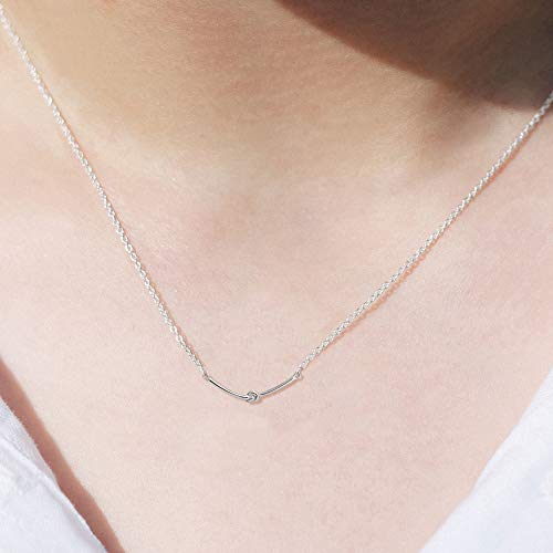 Love Knot Bar Necklace - Boma Life Sterling Silver