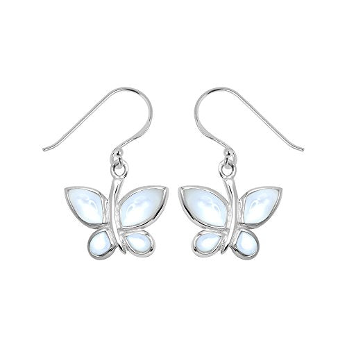 Mother of Pearl Butterfly Earrings - Boma Life Sterling Silver