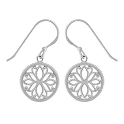 Lotus Flower Filigree Earrings - Boma Life Sterling Silver