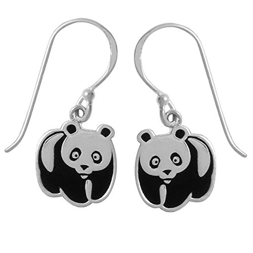 Panda Bear Earrings - Boma Life Sterling Silver