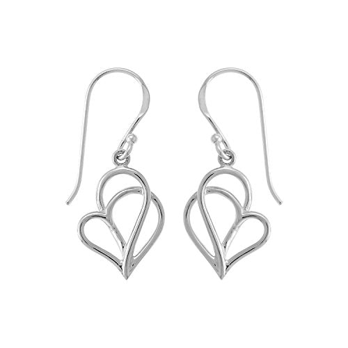 Twisting Heart Earrings - Boma Life Sterling Silver