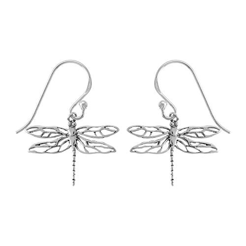 Dragonfly Earrings - Boma Life Sterling Silver