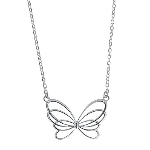 Butterfly Swirl Necklace - Boma Life Sterling Silver