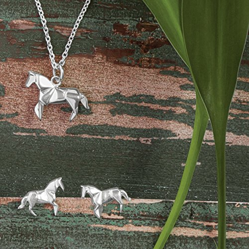 Origami Horse Necklace - Boma Life Sterling Silver