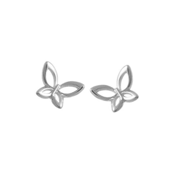 Butterfly Stud Earrings - Boma Life Sterling Silver