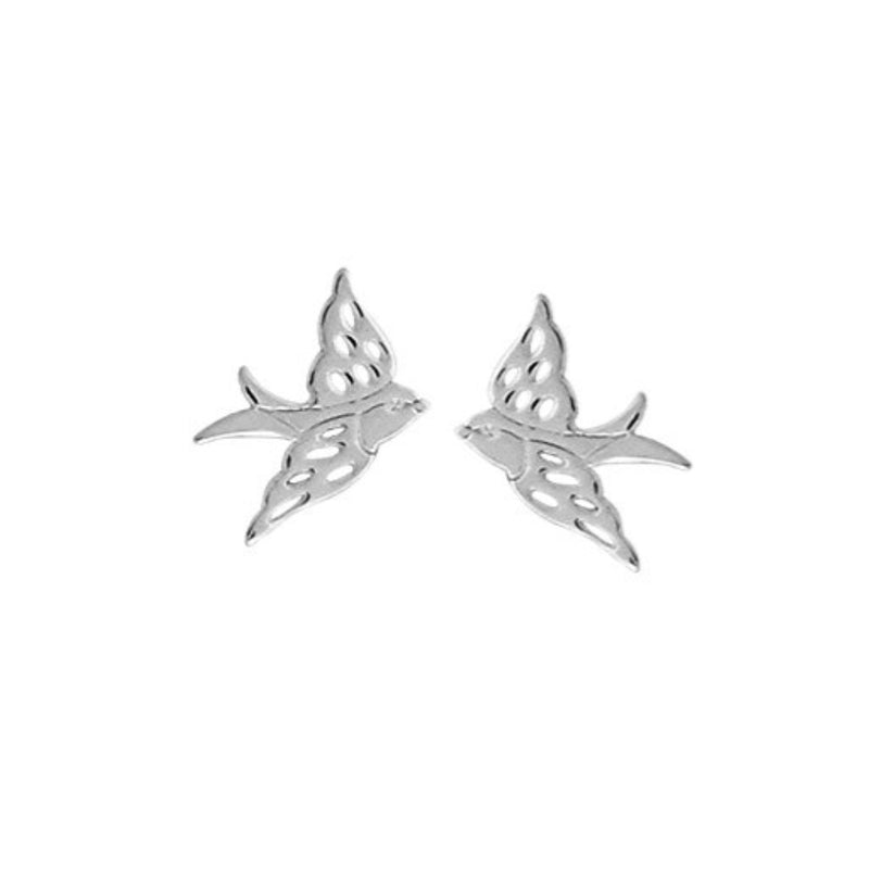 Flying Bird Stud Earrings - Boma Life Sterling Silver