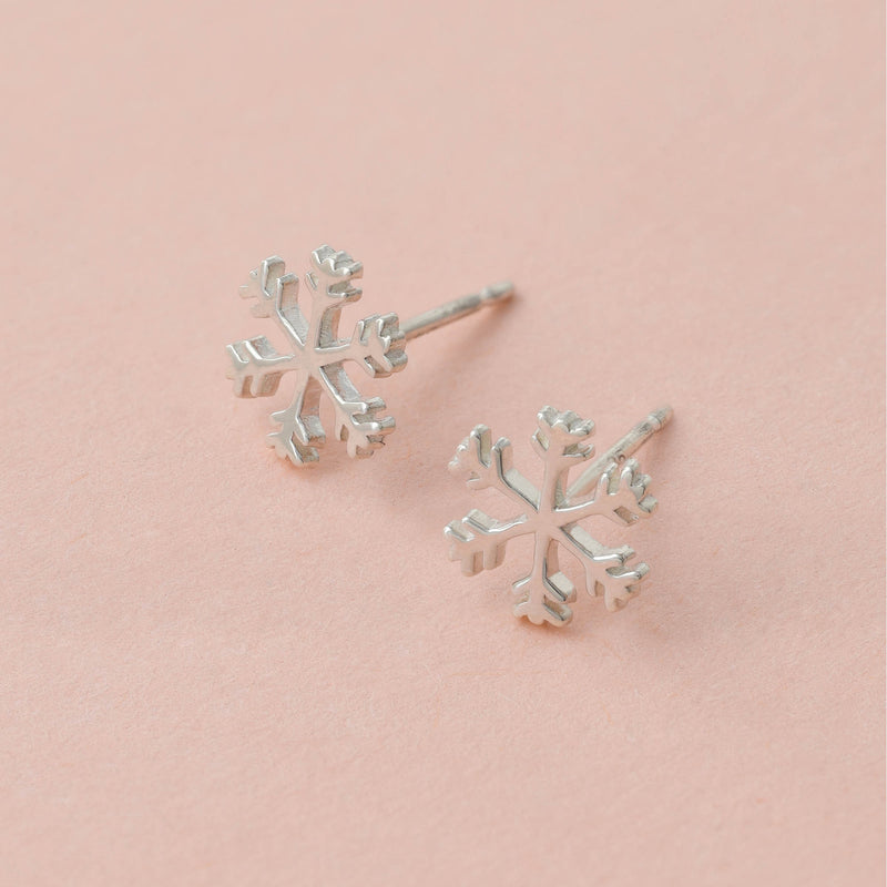 Boma Jewelry Sterling Silver Snowflake Stud Earrings