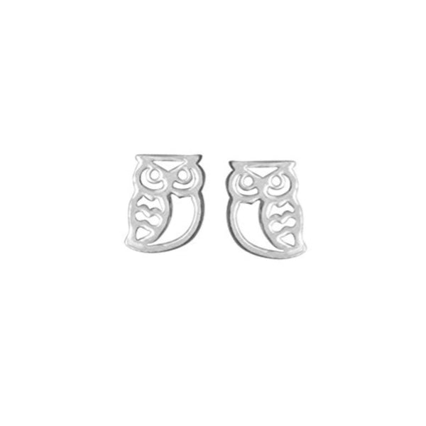 Owl Stud Earrings - Boma Life Sterling Silver