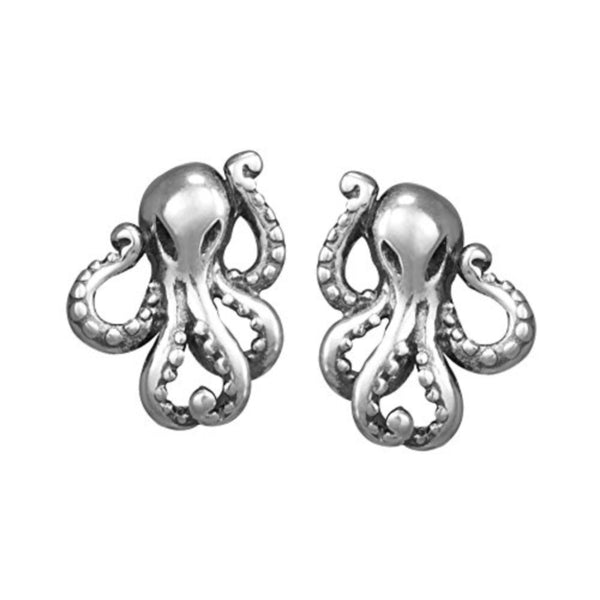 Octopus Stud Earrings - Boma Life Sterling Silver