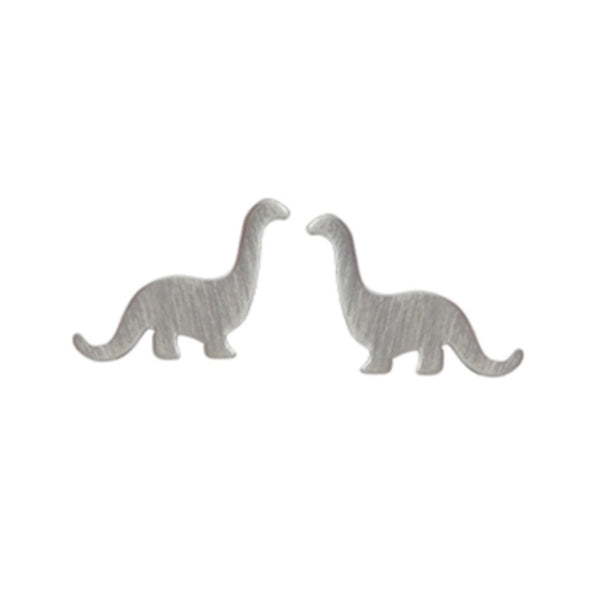 Brontosaurus Dinosaur Stud Earrings - Boma Life Sterling Silver