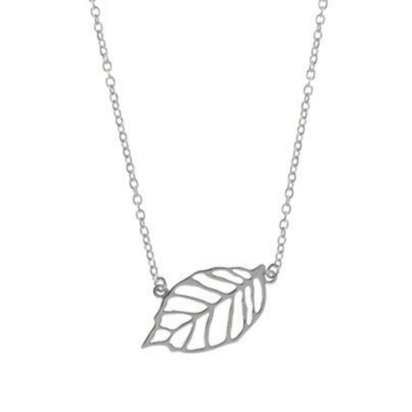 Cut Out Leaf Necklace - Boma Life Sterling Silver