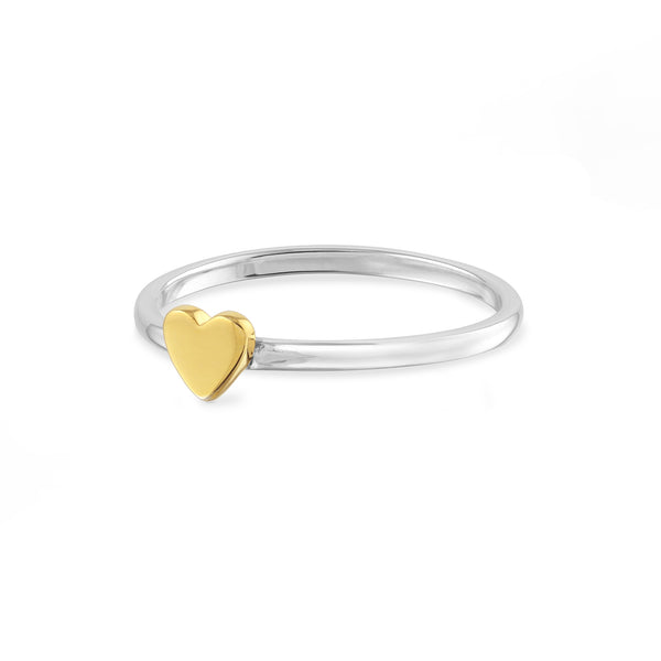 14K Gold Vermeil Heart Ring