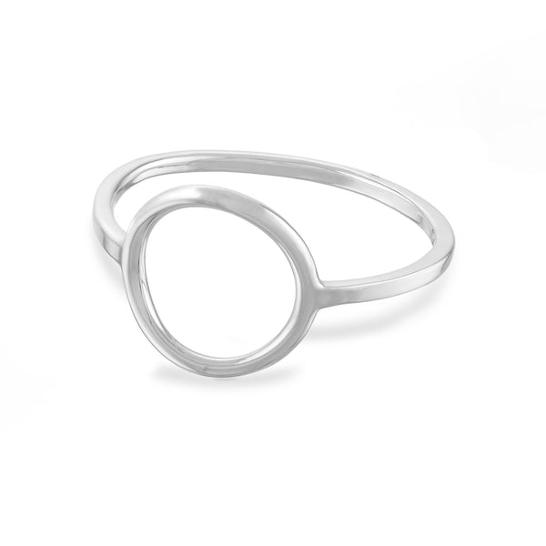 Large Open Circle Ring