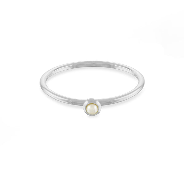 Freshwater White Pearl Stacking Ring