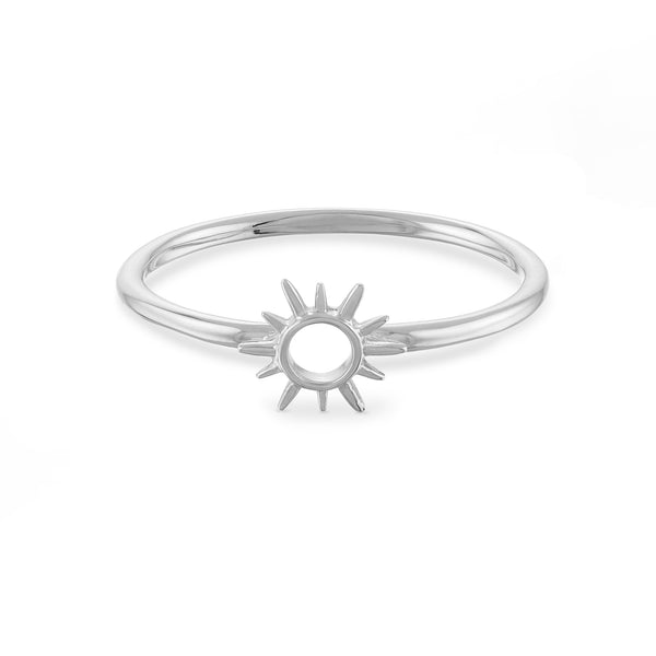 Sunburst Open Circle Ring