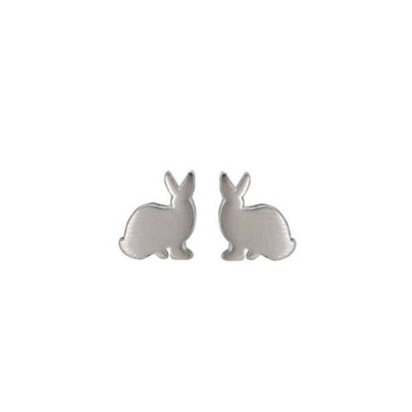 Bunny Rabbit Stud Earrings - Boma Life Sterling Silver