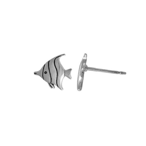 Tropical Fish Stud Earrings - Boma Life Sterling Silver