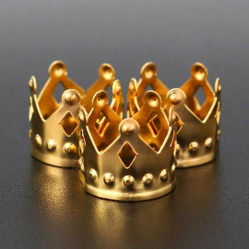 100Pcs Crown gold hair cuffs - Virgin Hair