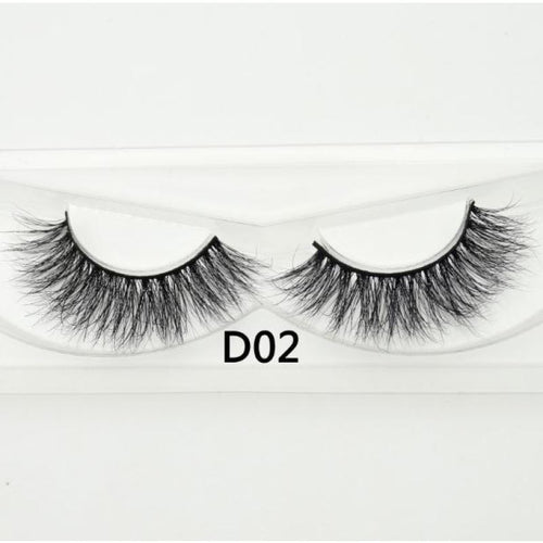3D Mink Lashes - D02 - Virgin Hair