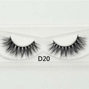 3D Mink Lashes - D20 - Virgin Hair
