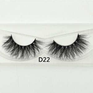 3D Mink Lashes - D22 - Virgin Hair