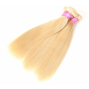 Brazilian Straight Hair 3 Bundles Blonde Hair - Virgin Hair