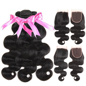 Peruvian Body Wave With Closure 100% - Virgin Hair