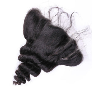 Loose Wave Remy Hair 13x4 Lace with Frontal Closure - Virgin Hair