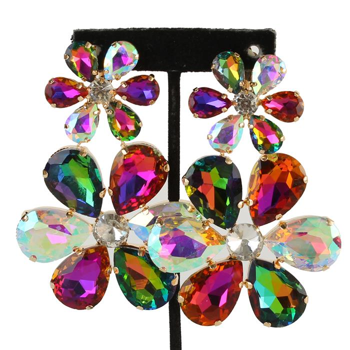 BELLE ROSE EARRINGS - MULTI
