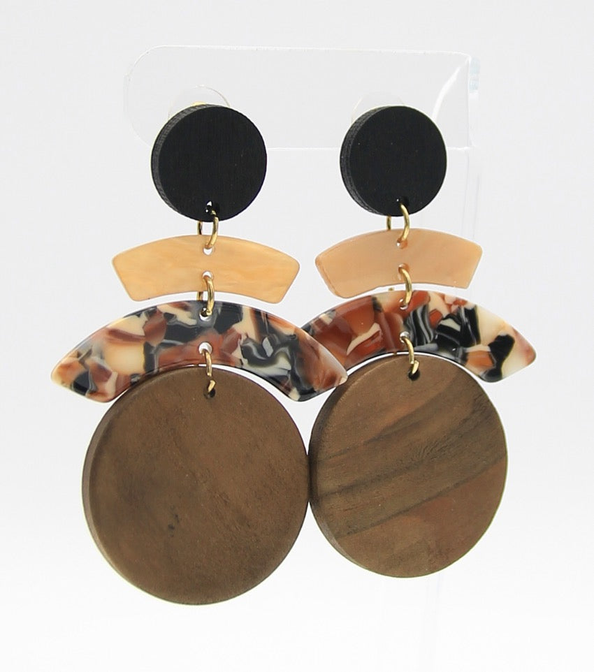 CAPRI EARRINGS - BROWN