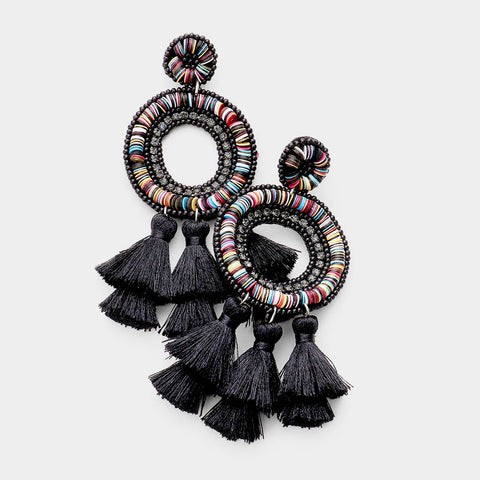FLAVIA EARRINGS - BLACK