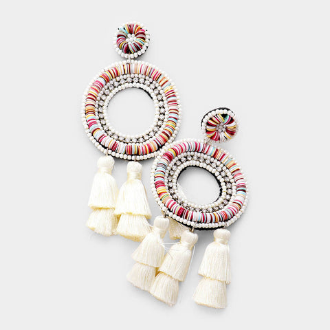 FLAVIA EARRINGS - IVORY