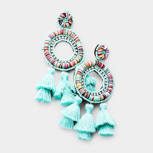 FLAVIA EARRINGS - MINT