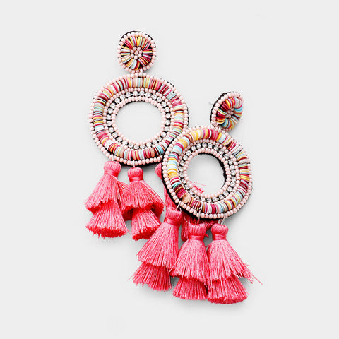 FLAVIA EARRINGS - PINK