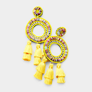 FLAVIA EARRINGS - YELLOW