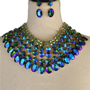 VALENTI NECKLACE - BLUE ZIRCON