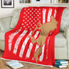 America Flag Horse Lover Horse Riding Gift for Horse Grandma Horse Mom - Fleece Blanket