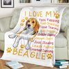 I Love My Beagle Yippy Yapping Trash Snacking  Dog Lover - Premium Fleece Blanket