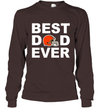 Best Dad Ever Cleveland Browns Fan Gift Ideas Long Sleeve image photo picture