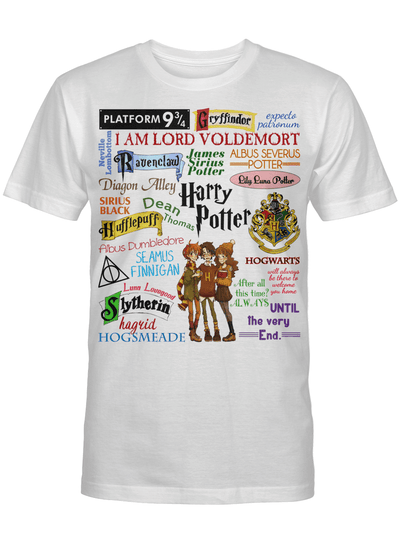 Harry Potter Characters Houses Comical Fanart Funny Movie Fan Gift