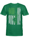 Irish US Flag Patriotic Nurse St. Patrick's Day T Shirt