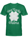 One Lucky Mama T-shirt Vintage St Patricks Day Shirt, White T Shirt
